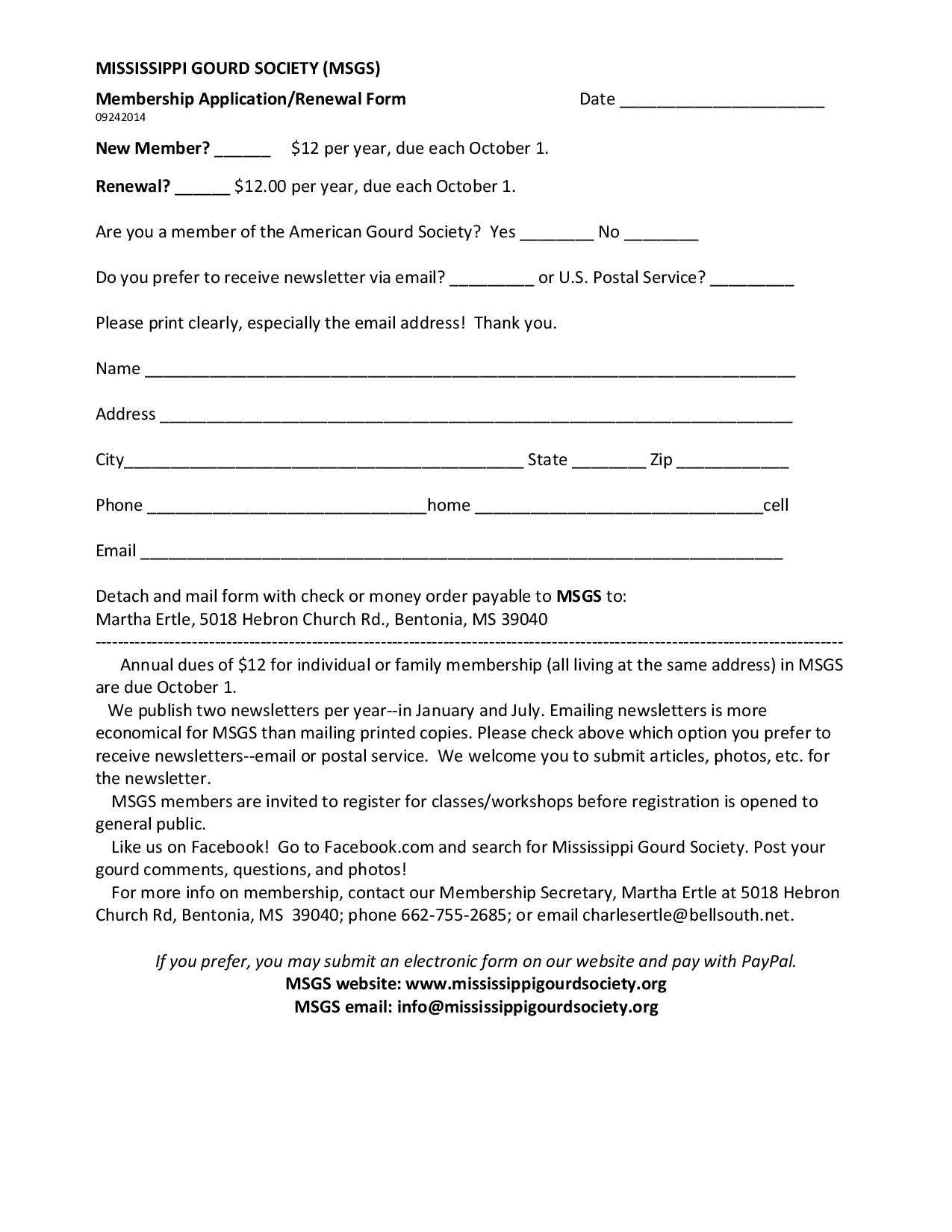 Membership form and dues payment for a printable membership form that you can mail please click the following link msgs membership form if you prefer the electronic form see below thecheapjerseys Images