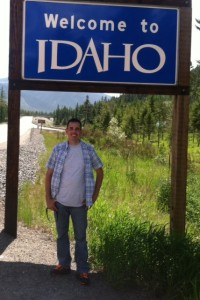 Ron Swank and Idaho sign